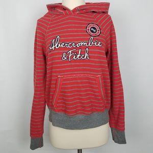 Abercrombie Women's soft striped hoodie sweatshirt
